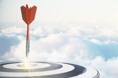 Start, het richten en doelconcept stock illustratie