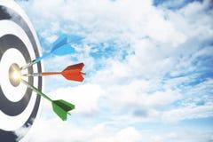 Start, het richten en succesconcept Stock Afbeelding