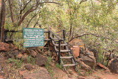 Start of hiking trail on top of the Waterberg Plateau Royalty Free Stock Image