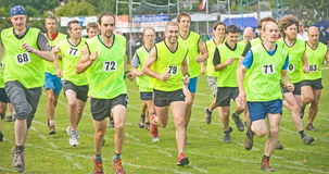 Start of Hill Race at Glenurquhart Games. Stock Photos