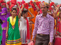 Start of a Hindu Procession Royalty Free Stock Photography