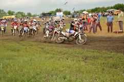 Start holeshot parts motocross MX2 Royalty Free Stock Photos