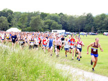 Start, Hope fell race, Hope, Derbyshire Royalty Free Stock Photography