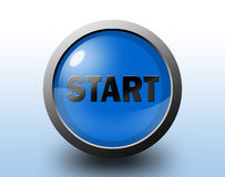 Start icon. Glossy button. Stock Photo