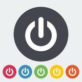 Start icon. Start. Single flat icon on the circle. Vector illustration Stock Image