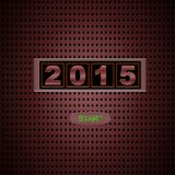 2015 start. Illustration with 2015 start on red background Stock Photography
