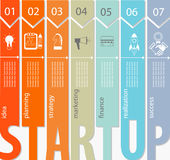 Start infographic concept - Royalty-vrije Stock Afbeelding