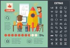 Start infographic malplaatje, elementen en pictogrammen Royalty-vrije Stock Fotografie