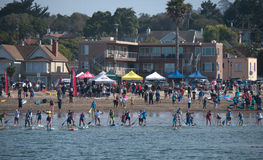 Start of the Jay Race 2015 Capitola California Royalty Free Stock Photo