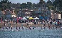 Start of the Jay Race 2015 Capitola California Royalty Free Stock Photo