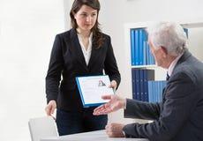 Start of job interview Stock Photo