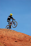 Start of jump extreme. On Red canyon Stock Images