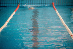 Start and lane of swimming pool Royalty Free Stock Photos