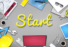 Start Launch Motivate Activation Begin Concept Stock Image