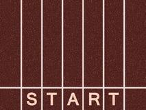 Start line. Of athletics track Royalty Free Stock Image