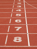 Start line. Numbers from 1 to 8 Royalty Free Stock Images