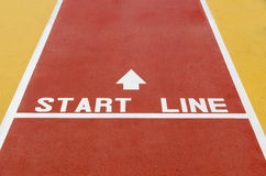 Start line Royalty Free Stock Photo