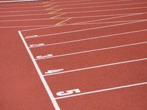 Start line of race track. With clay royalty free stock images