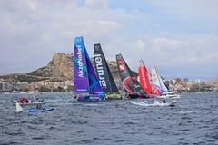 Start Line Volvo Ocean Race Alicante 2017 Stock Photo