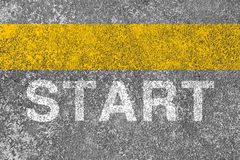 Start Line Royalty Free Stock Images
