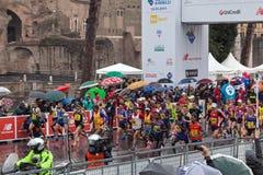 The start of the Marathon Stock Photos