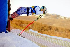 Free Start Men Super Giant Slalom During National Cup Alpine Skiing Royalty Free Stock Image - 106592406