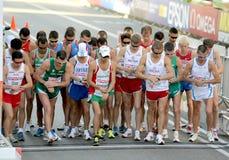 Start of Mens 20km Walk Final Stock Images