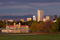 Start of the morning at Denver's City Park Royalty Free Stock Image