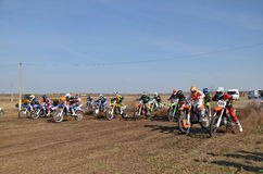 Start a motocross competition Royalty Free Stock Photography