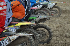 Start at motocross race Stock Image