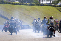 Start of motorbike race Royalty Free Stock Photo