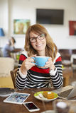 Start my day with a good coffee Stock Photography