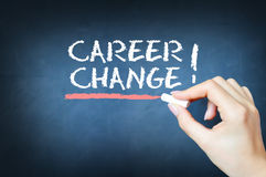 Start a new career concept. With text on a blackboard Royalty Free Stock Images