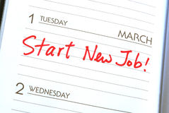 Start a new job