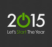 Start New Year 2015 Stock Photography
