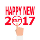 Start new year 2017 idea. Royalty Free Stock Image