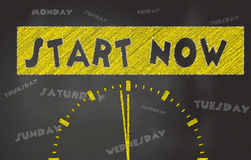 Start Now Conceptual Image Stock Image