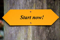 Start now Royalty Free Stock Photo