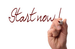 Start now! Stock Images