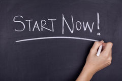 Start Now / Motivational Business Phrase Note Royalty Free Stock Image