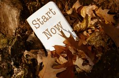Start Now New Years Resolutions Empower Change Royalty Free Stock Photography
