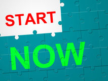 Start Now Represents At This Time And Beginning Royalty Free Stock Images