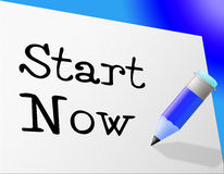 Start Now Shows At This Time And Initiate Royalty Free Stock Images
