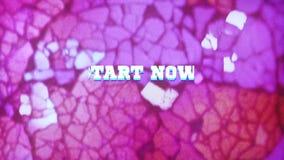 Start Now! - text animation stock illustration