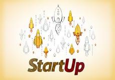 Start- och egenf?retagandebegrepp royaltyfri illustrationer