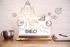 Start- och sökandebegrepp Fotografering för Bildbyråer