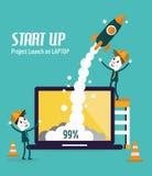 Start- och utvecklingsbegrepp Arkivbild
