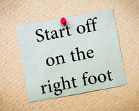Start Off On The Right Foot Stock Photos