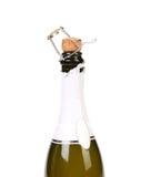 Start opening champagne bottle Royalty Free Stock Image