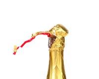 Start opening champagne bottle Stock Photo
